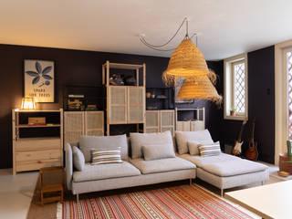 Tangerinas e Pêssegos - Design de Interiores & Decoração no Porto Eclectic style media room