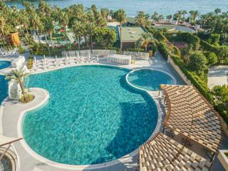 Kirman Arycanda Hotel De Luxe Hotel Pool Project Serapool Bahçe havuzu Seramik Yeşil
