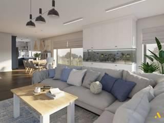 atoato Mediterranean style living room