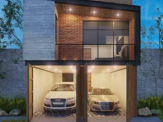Residencia SB [San Francisco del Rincon, Gto.] 3C Arquitectos S.A. de C.V. Casas unifamiliares Concreto Gris