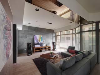 45-degree轉角的風景 微自然室內裝修設計有限公司 现代客厅設計點子、靈感 & 圖片