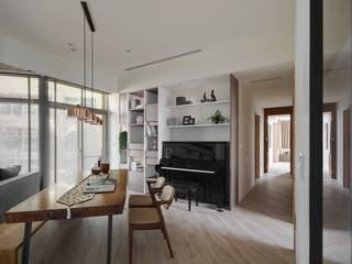 45-degree轉角的風景 微自然室內裝修設計有限公司 餐廳