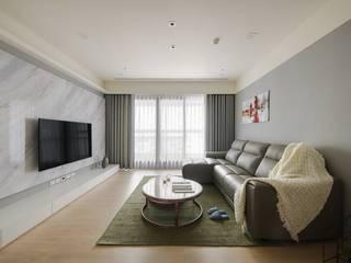 現代美式天空 微自然室內裝修設計有限公司 客廳