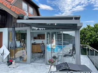 Schmidinger Wintergärten, Fenster & Verglasungen Classic style conservatory Aluminium/Zinc Grey