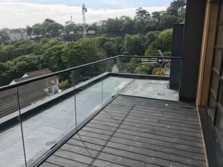 Glass Balustrade in Llandudno in North Wales Origin Architectural Balcony Glass Transparent