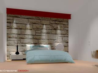 Casa GC Laboratorio di Progettazione Claudio Criscione Design Camera da letto in stile industriale