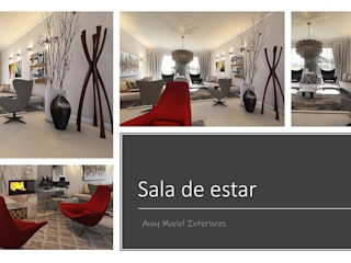 Anny Maciel Interiores - Casa Cor de Riso Salones de estilo moderno Gris