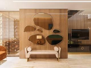 Camila Pimenta   Arquitetura + Interiores Modern living room Wood Beige