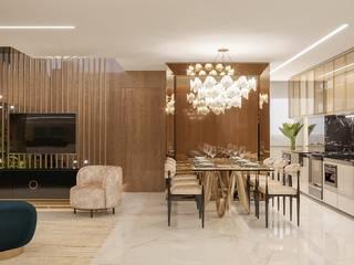 Camila Pimenta   Arquitetura + Interiores Modern dining room Wood Beige