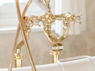 Exklusives Vintage Bad Traditional Bathrooms GmbH BadezimmerArmaturen Metall Bernstein/Gold