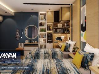 AKYAN SQUARE Boys Bedroom Wood-Plastic Composite Multicolored