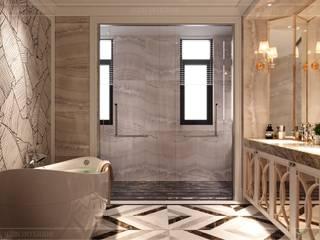 Thiết kế nội thất phong cách Tân Cổ Điển sang trọng CÔNG TY CP THIẾT KẾ NỘI THẤT ICON BathroomBathtubs & showers