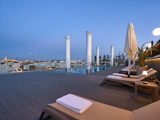 Interiorismo Conceptual estudio Modern balcony, veranda & terrace