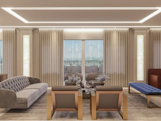 Camila Pimenta   Arquitetura + Interiores Classic style living room Engineered Wood Wood effect