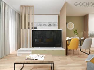 mieszkanie Wilanów - projekt GACKOWSKA DESIGN GACKOWSKA DESIGN Nowoczesny salon Zielony