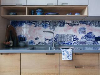 José den Hartog Módulos de cocina Cerámico Azul