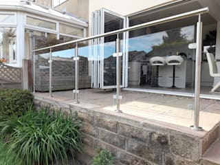 Glass Balustrade in Medway Origin Architectural Front yard Glass Transparent