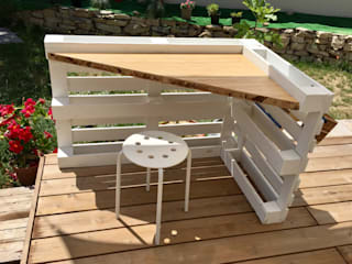 2nd Chance Créations Study/officeDesks Wood White
