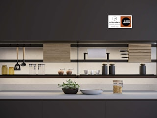 Damiano Latini srl Modern kitchen Aluminium/Zinc Black