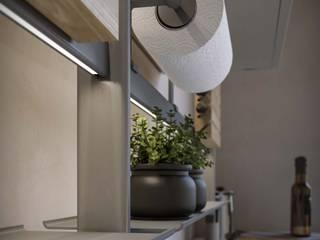 Damiano Latini srl Modern kitchen Aluminium/Zinc Grey