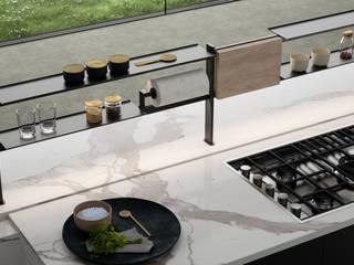 Damiano Latini srl Modern kitchen Black