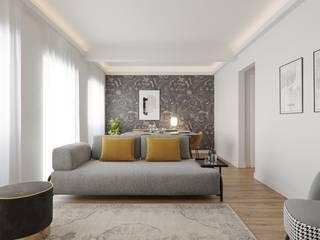 Baobart Arquitetura e Design Вітальня Жовтий
