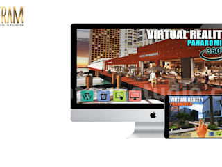 360 Panoramic of virtual reality apps development by Yantram Architectural Visualization Studio, Paris, France Yantram Architectural Design Studio 陽台