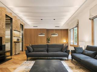 Reforma de un piso en Bonanova, Barcelona dom arquitectura Salones de estilo moderno