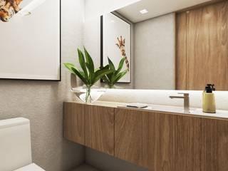 Studio M Arquitetura Modern Bathroom