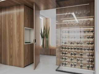 Studio M Arquitetura Modern Home Wine Cellar