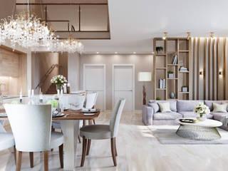 Студия дизайна интерьера 'Золотое сечение' Living room