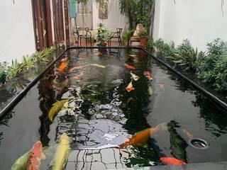 Tukang Taman Surabaya - Tianggadha-art Пруд в саду Камень Многоцветный