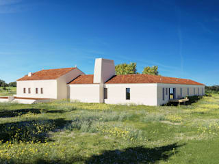 MA.TERIA. HOUSE. HERDADE FAMAIS. ALCÁCER MA.TERIA. ARCHITECTURE SOLUTIONS Casas de campo Branco