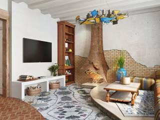 Вира-АртСтрой Mediterranean style living room