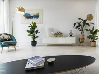 Home Staging piso piloto de lujo en Madrid Theunissen Staging y Decoración SL Salones de estilo ecléctico Mármol Blanco
