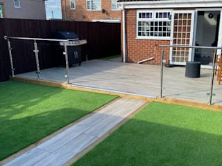 Glass Balustrade in Oldham Origin Architectural Front yard Glass Transparent