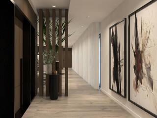 ByOriginal Nowoczesny korytarz, przedpokój i schody