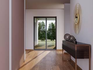 Alpha Details Pasillos, vestíbulos y escaleras de estilo moderno
