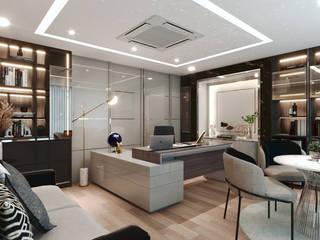 MD- EKARAT Modernize Design + Turnkey ห้องทำงาน/อ่านหนังสือ หินอ่อน Grey