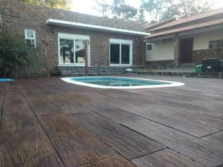 Rebello Pedras Decorativas Garden Pool Stone Wood effect