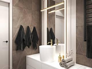 Mieszkanie w odcieniach kawy Ambience. Interior Design Nowoczesna łazienka