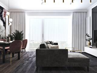 Wnętrza w stylu modern classic Ambience. Interior Design Nowoczesny salon