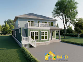 Photorealistic Rendering Services for Home JMSD Consultant - 3D Architectural Visualization Studio Single family home Bricks Green