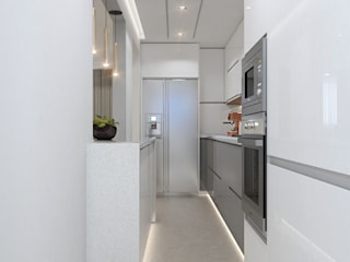 Proyecto M7 Diaf design Cocinas de estilo moderno Granito Gris