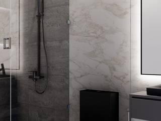 HC Arquitecto Modern bathroom Marble White