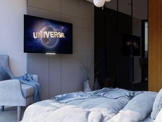 HC Arquitecto Modern style bedroom Engineered Wood White