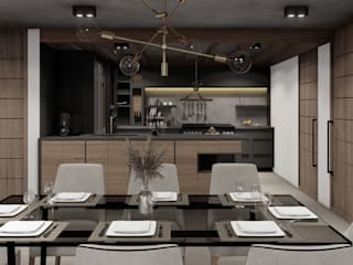 HC Arquitecto Industrial style dining room Wood Brown