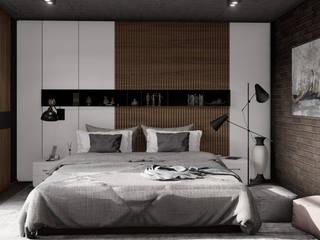 HC Arquitecto Industrial style bedroom Wood White