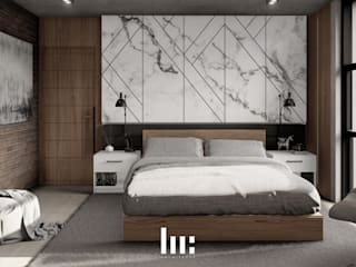 HC Arquitecto Industrial style bedroom Marble White