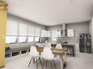 3D Interior Kitchen & Living room Design of Virtual Reality Real Estate Companies by Architectural Modeling Firm, Sydney, australia Yantram Architectural Design Studio 廚房廚房器具
